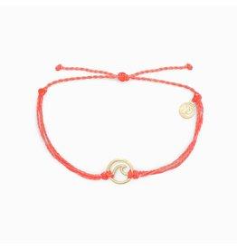 Pura Vida, Rose Gold Wave Bracelet, Salmon