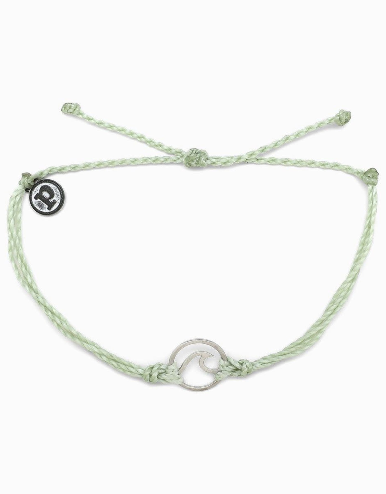 SILVER WAVE Bracelet, LIGHT GREEN