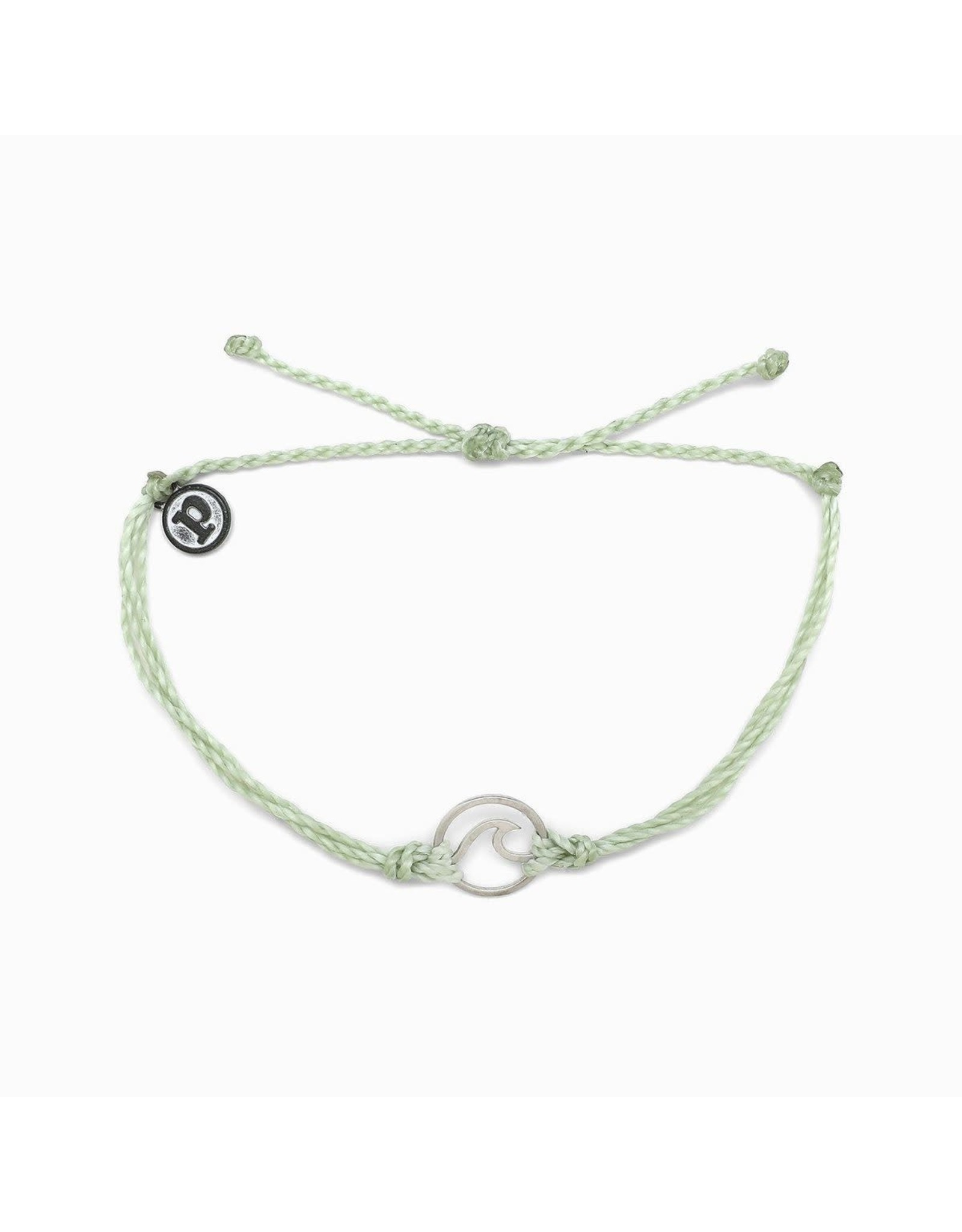 SILVER WAVE Bracelet, LIGHT GREEN
