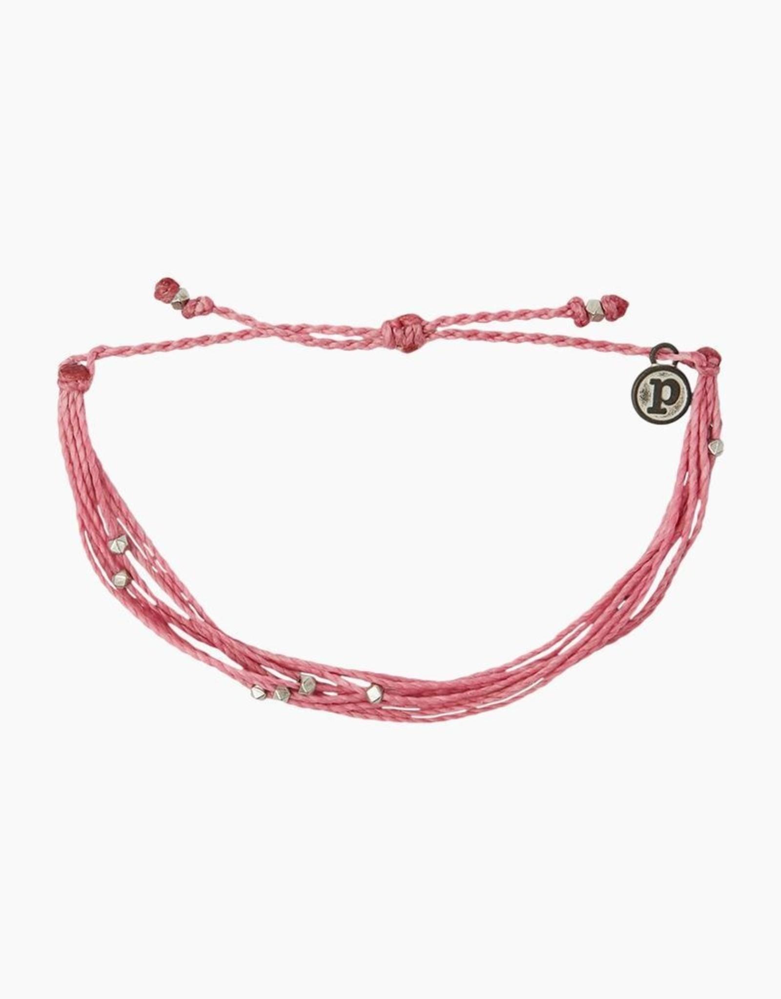 SILVER MALIBU Bracelet,  DARK PINK