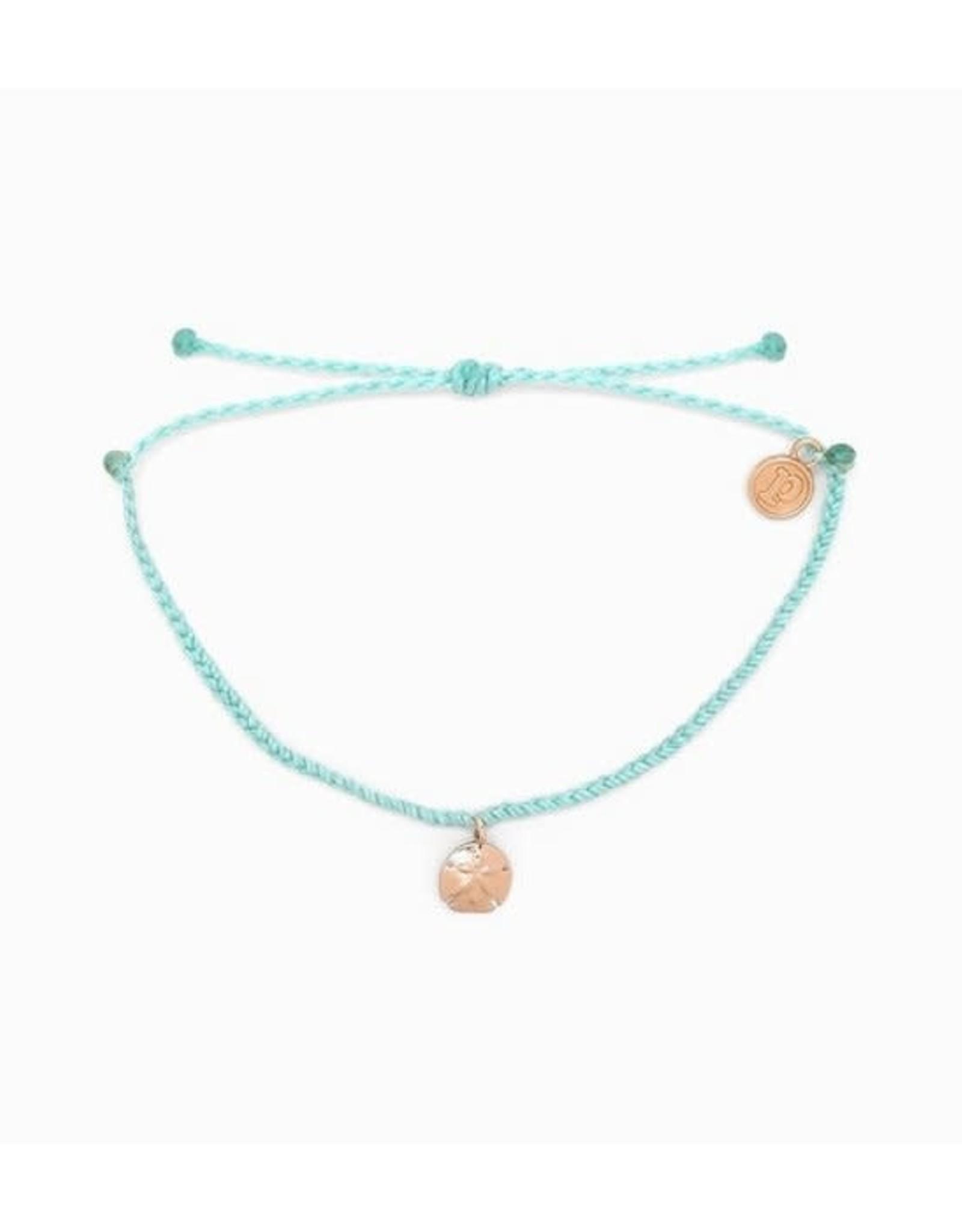 ROSE GOLD SAND DOLLAR Bracelet, SEAFOAM