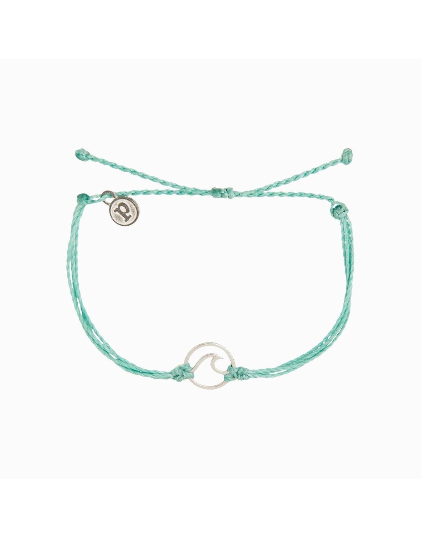 SILVER WAVE Bracelet,  ICE BLUE