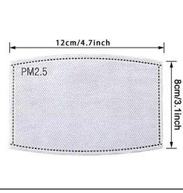5 layer Carbon Filter, KIDS SIZE, Set of 5