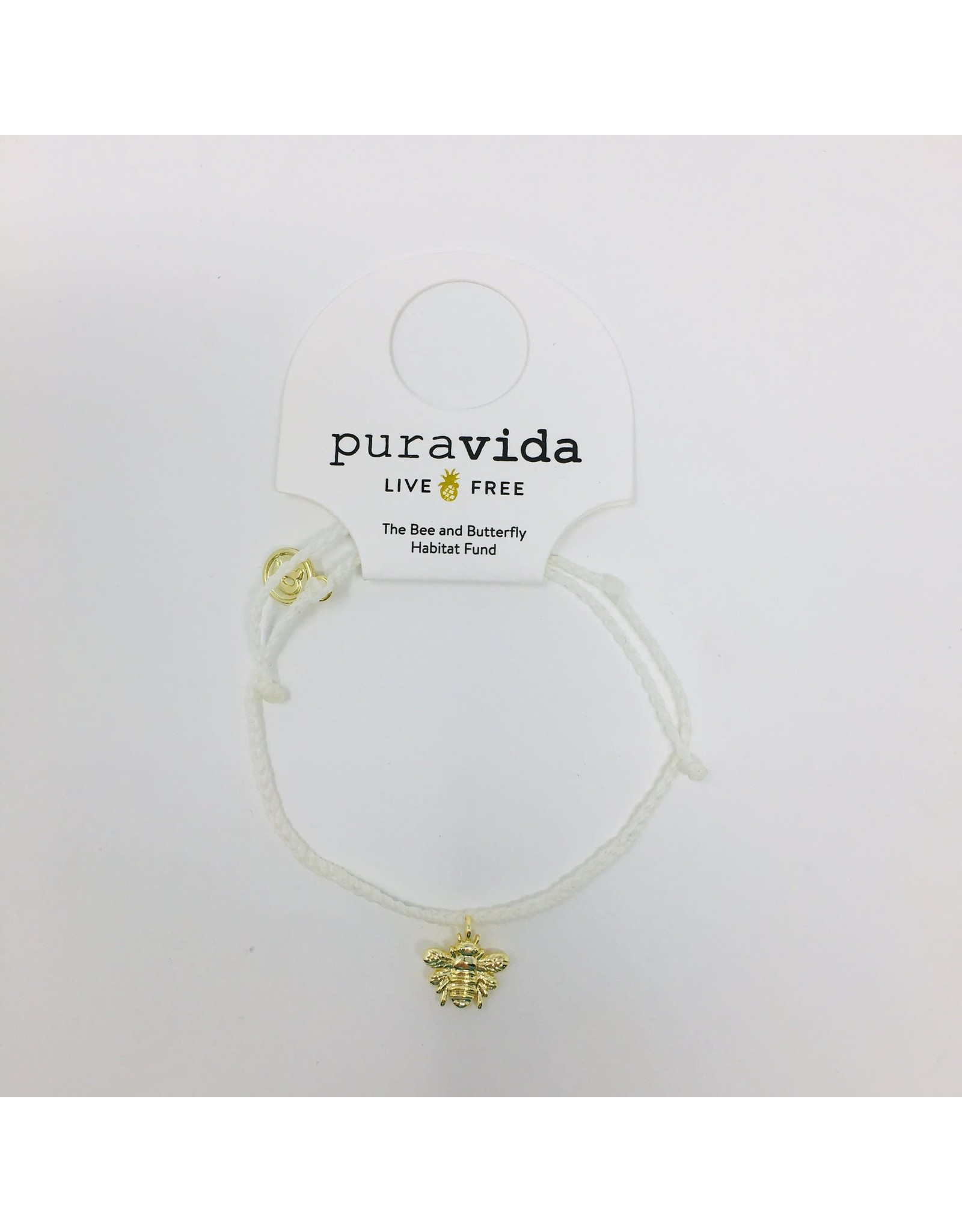 GOLD BEE Bracelet,  WHITE