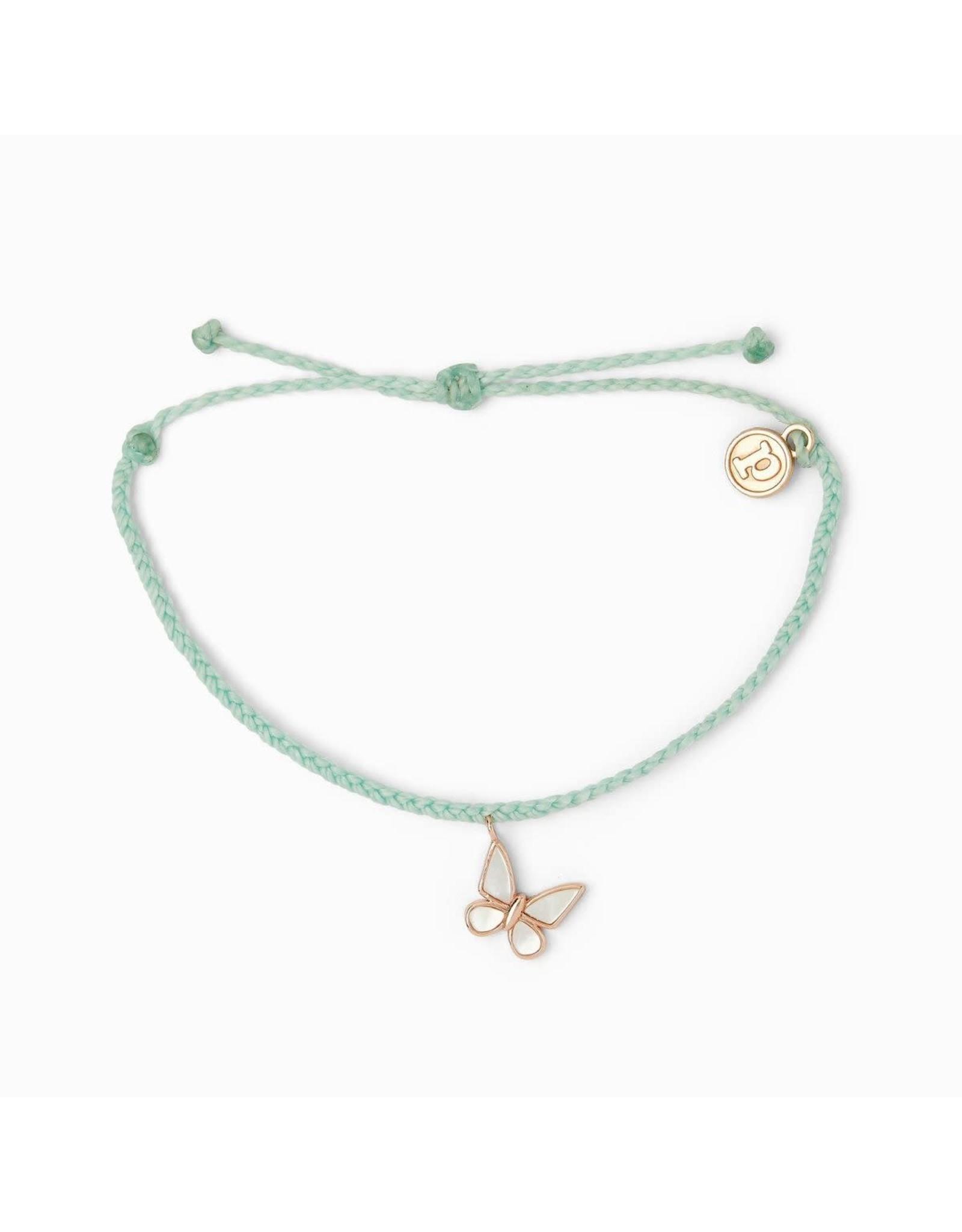ROSE GOLD BUTTERFLY Bracelet, SEAFOAM