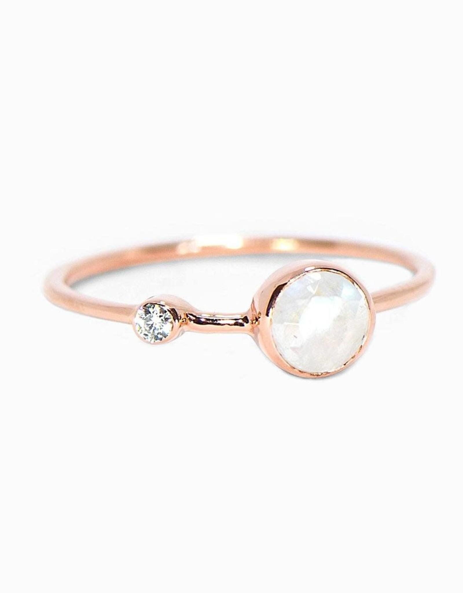Pura Vida Moonstone Double Stone Ring