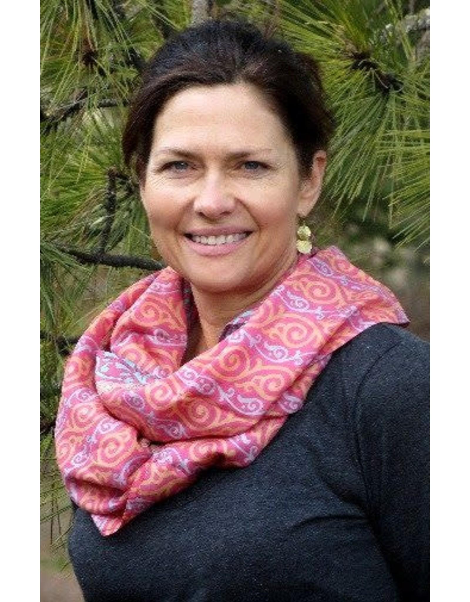 Recycled Infinity Silk Sari Scarf, Nepal