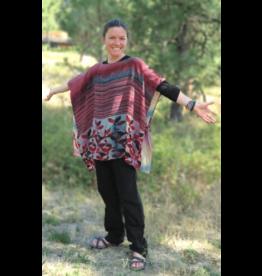 Vintage Silk Sari  Poncho