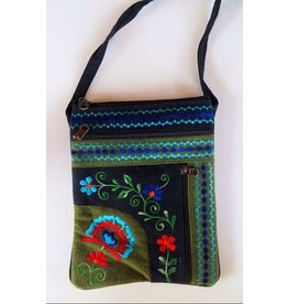Jari Embroidery Passport Bag, 2 zipper, Nepal