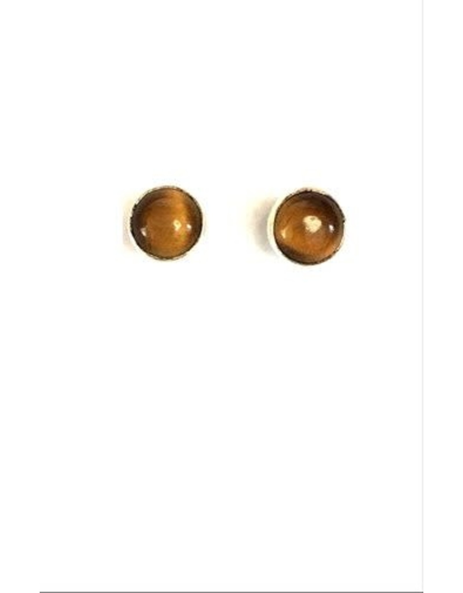 Earrings w/Small Stone in Bezel Setting