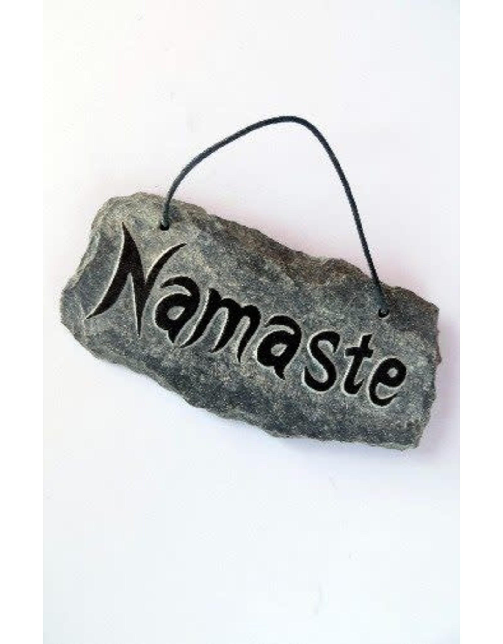 NAMASTE Small Slate Stone, India