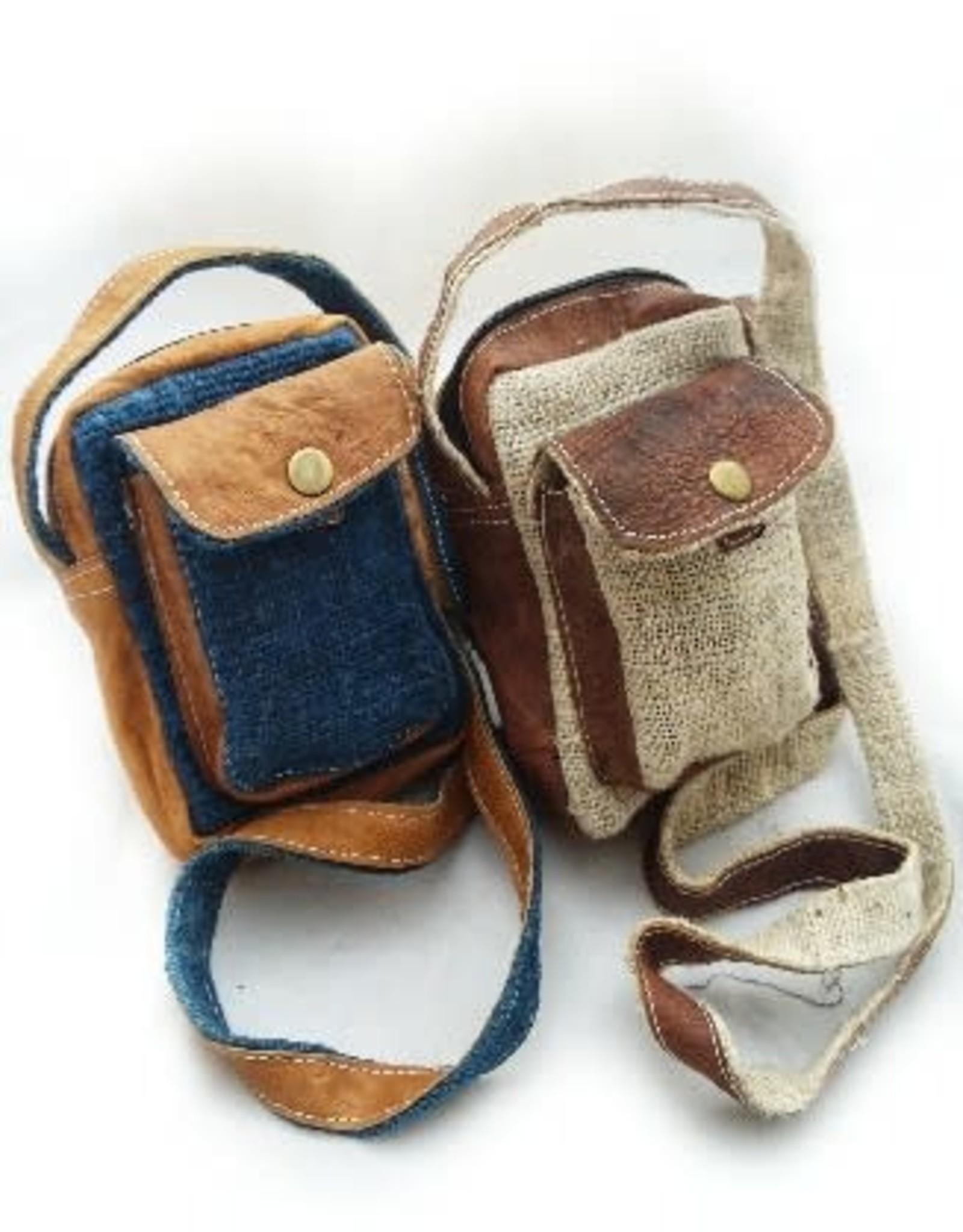 Small Hemp Leather Camera Bag