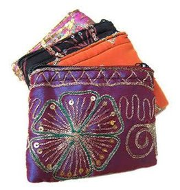 Silk Sequined Coin Purse