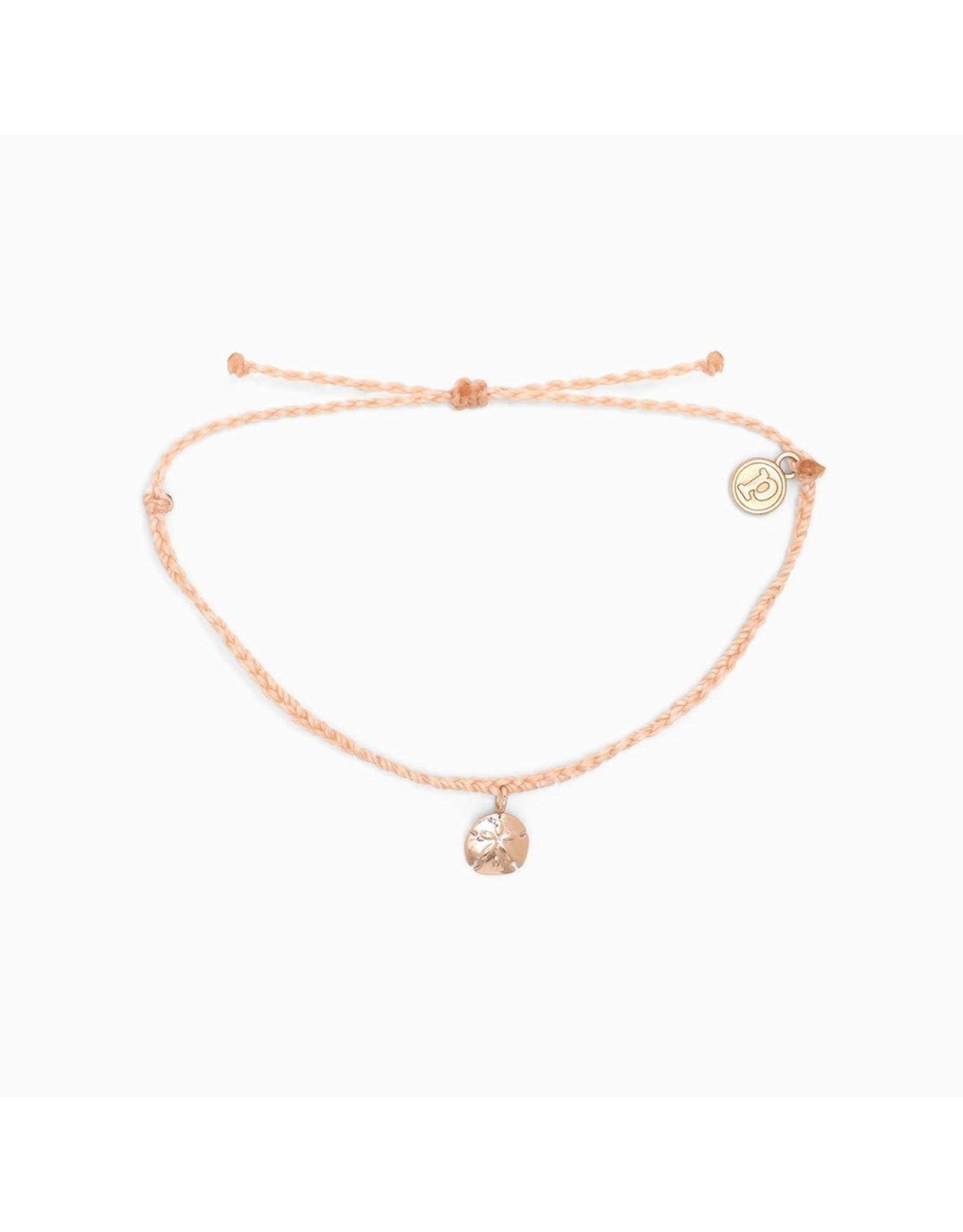Pura Vida, Rose Gold Sand Dollar Bracelet, Blush