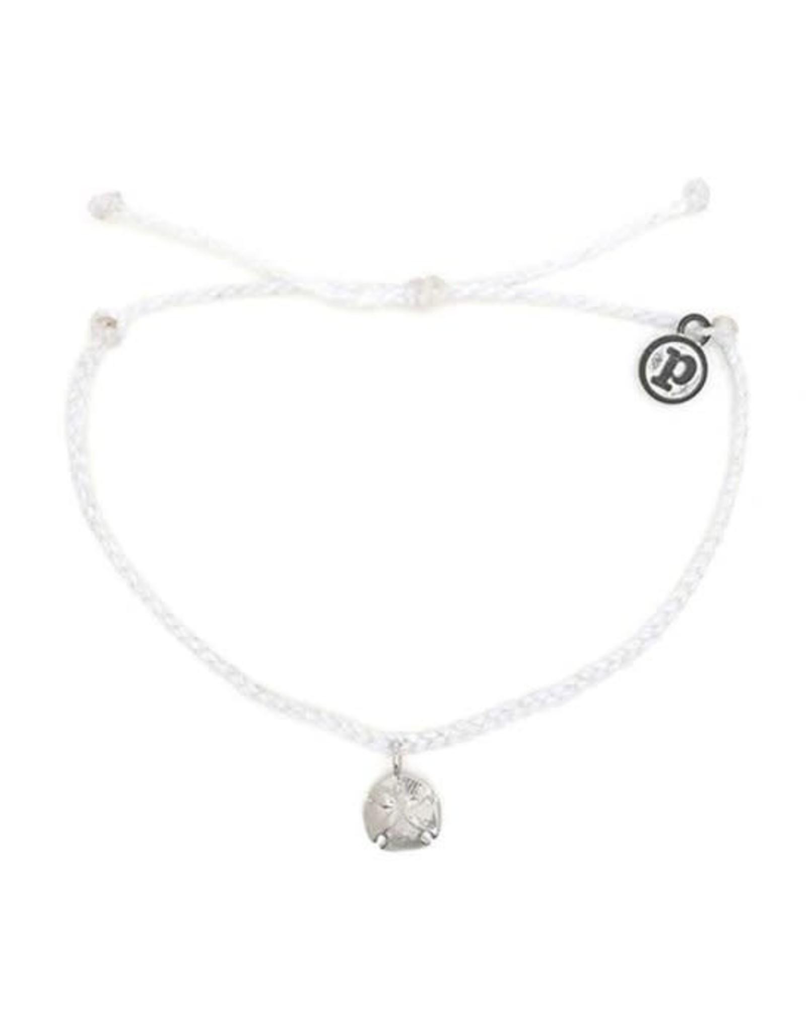 SILVER SAND DOLLAR Bracelet, WHITE