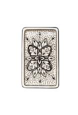 Rectangle Floral Ceramic Plate Black, Tunisia