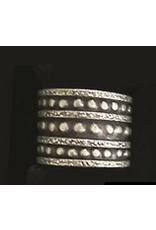 Thailand, Hill Tribe, Oxided Ring, Layered Dot