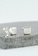 Crystal Waters Studs Moonstone Earrings