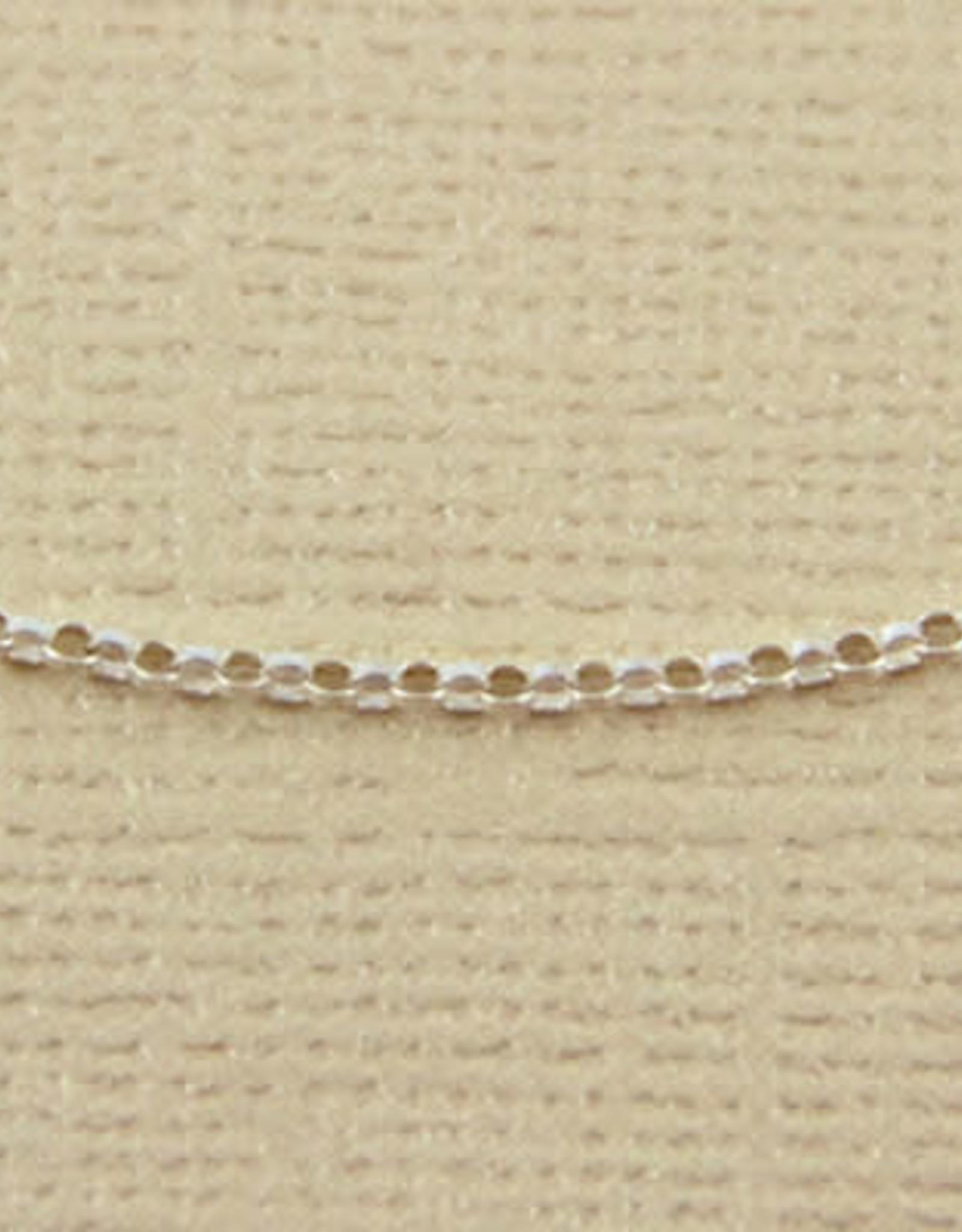 """Sterling Silver Mini Rollo Chain Necklace 18"""""""