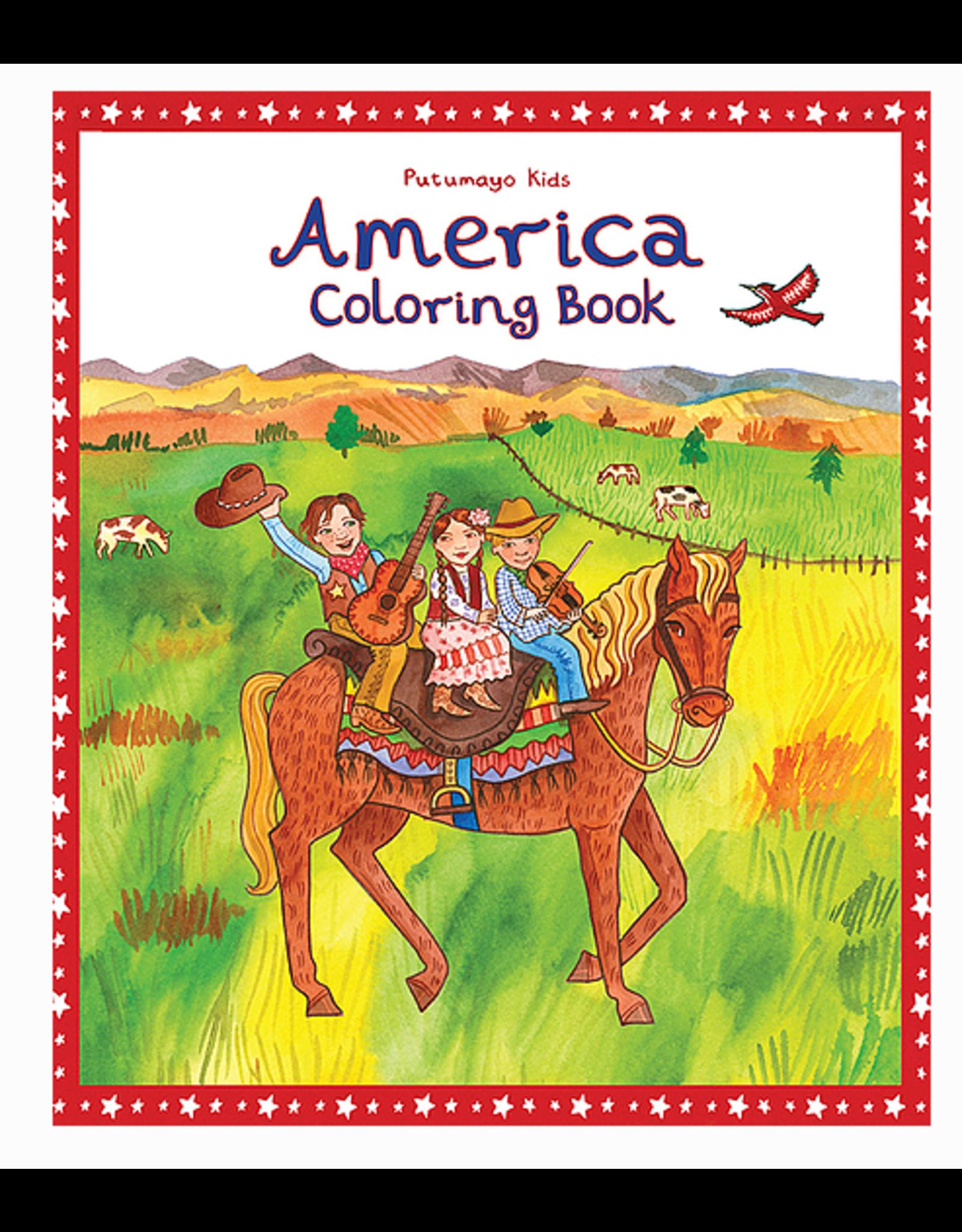 Putumayo Coloring Book America