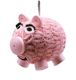 Vietnam, Quilled Ornament Pig