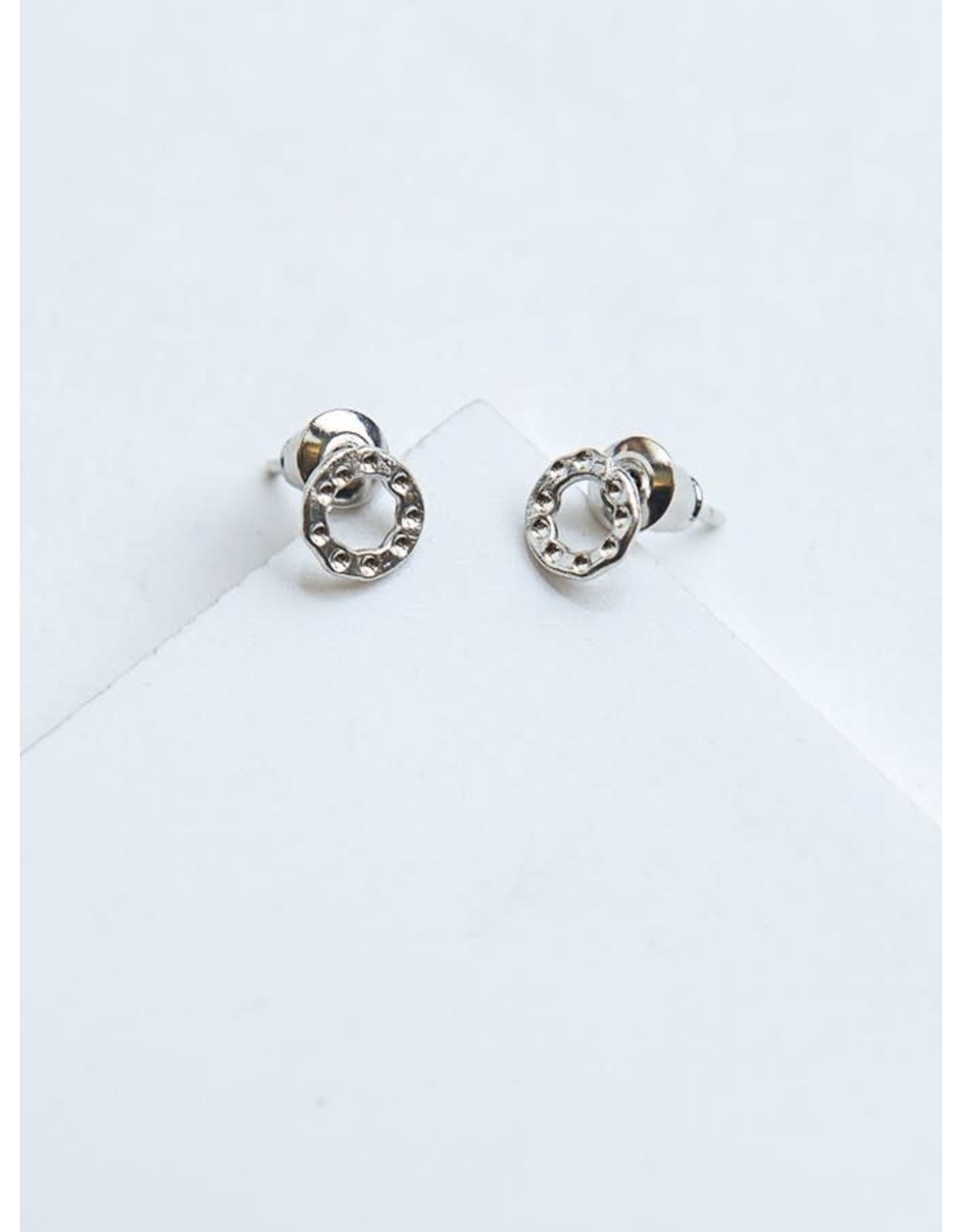 Simple Circle Studs Silver
