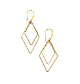 Rhombus Gold Earrings