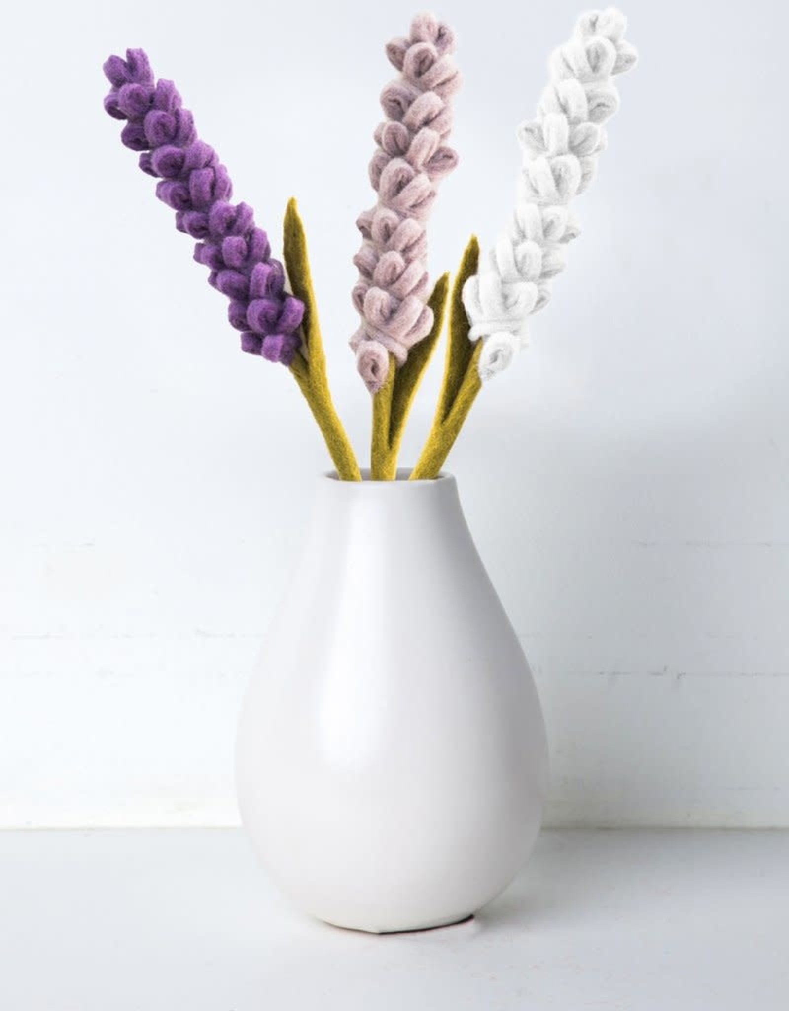 Lavender Felt Flower WHITE