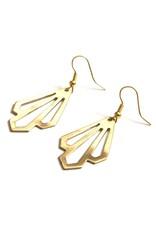 Illuminate Earrings Brass