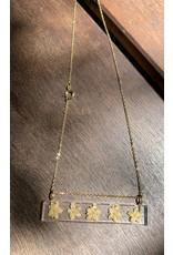 Palito Rectangle w/ Elderflower Pendant, Columbia