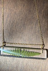 Palito Rectangle w/ Fern Necklace
