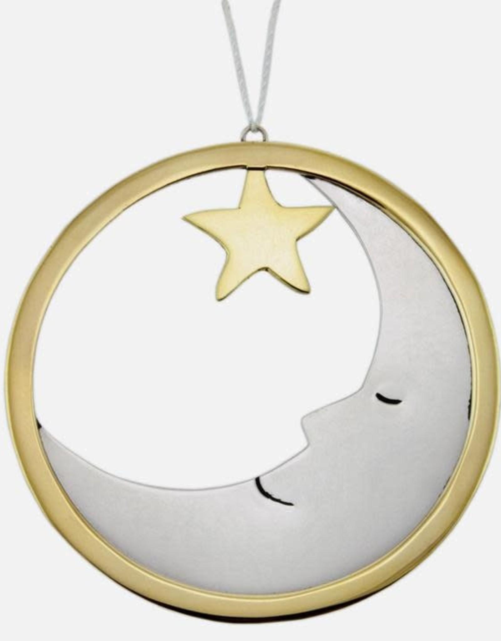 Round Brass Ornament Round Moon