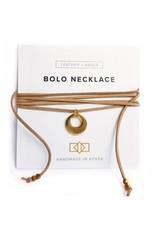 Bolo Necklace Horn + Brass