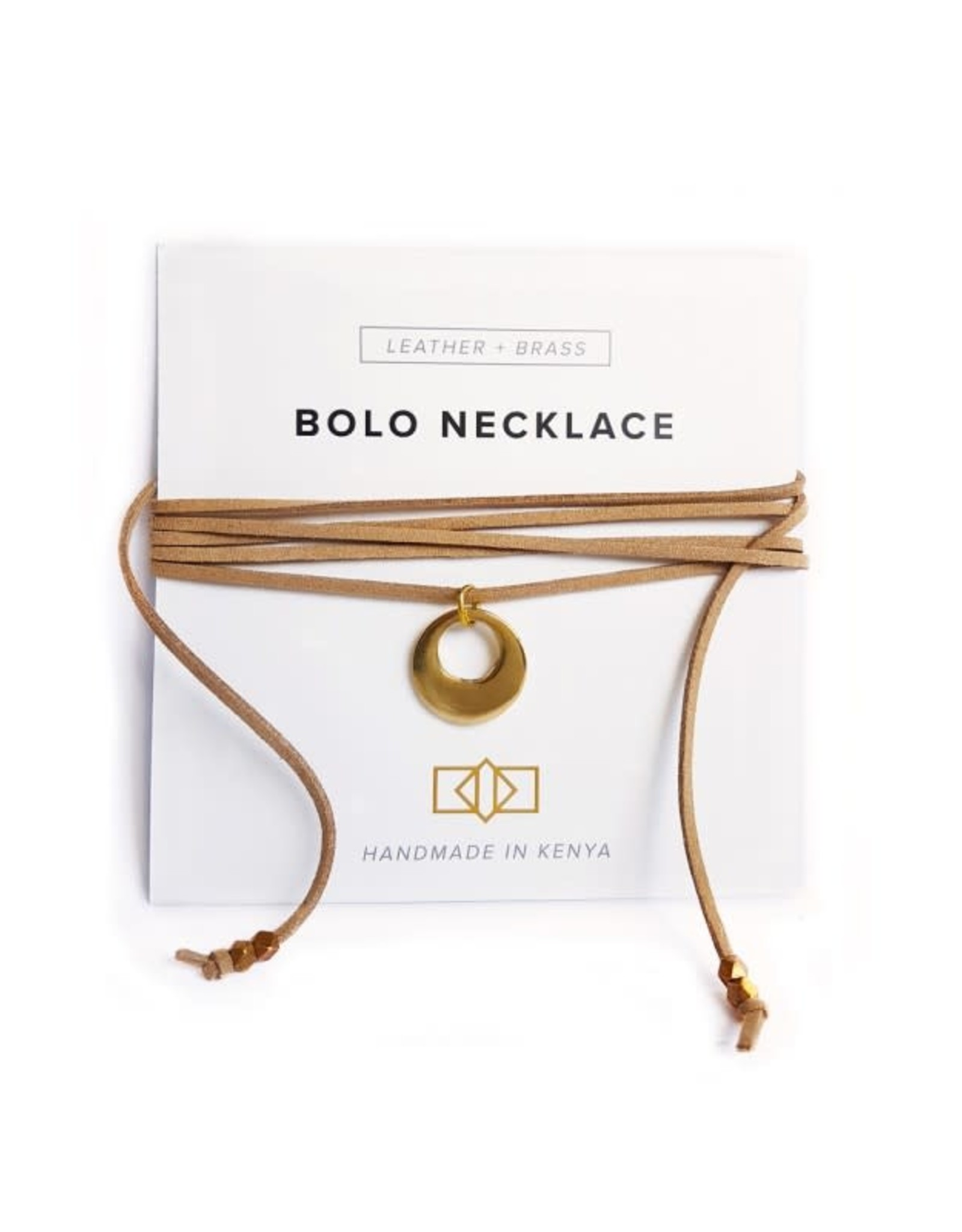 Bolo Necklace Horn + Brass