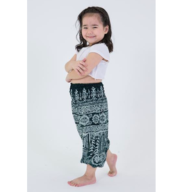 Thailand, Kids Elephant Pants  Green