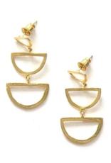 Reverberation Stud Earrings Brass