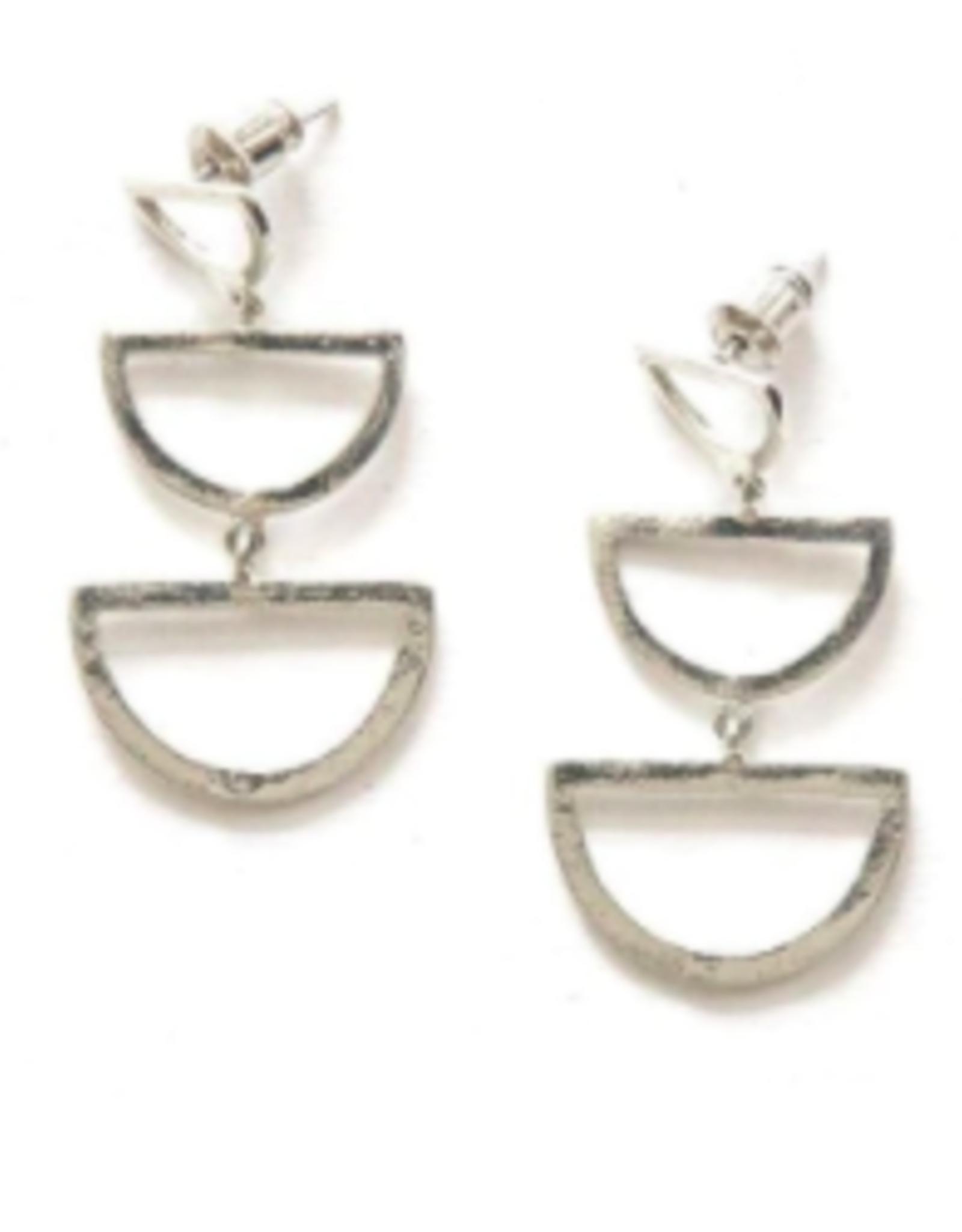 Reverberation Stud Earrings Silver