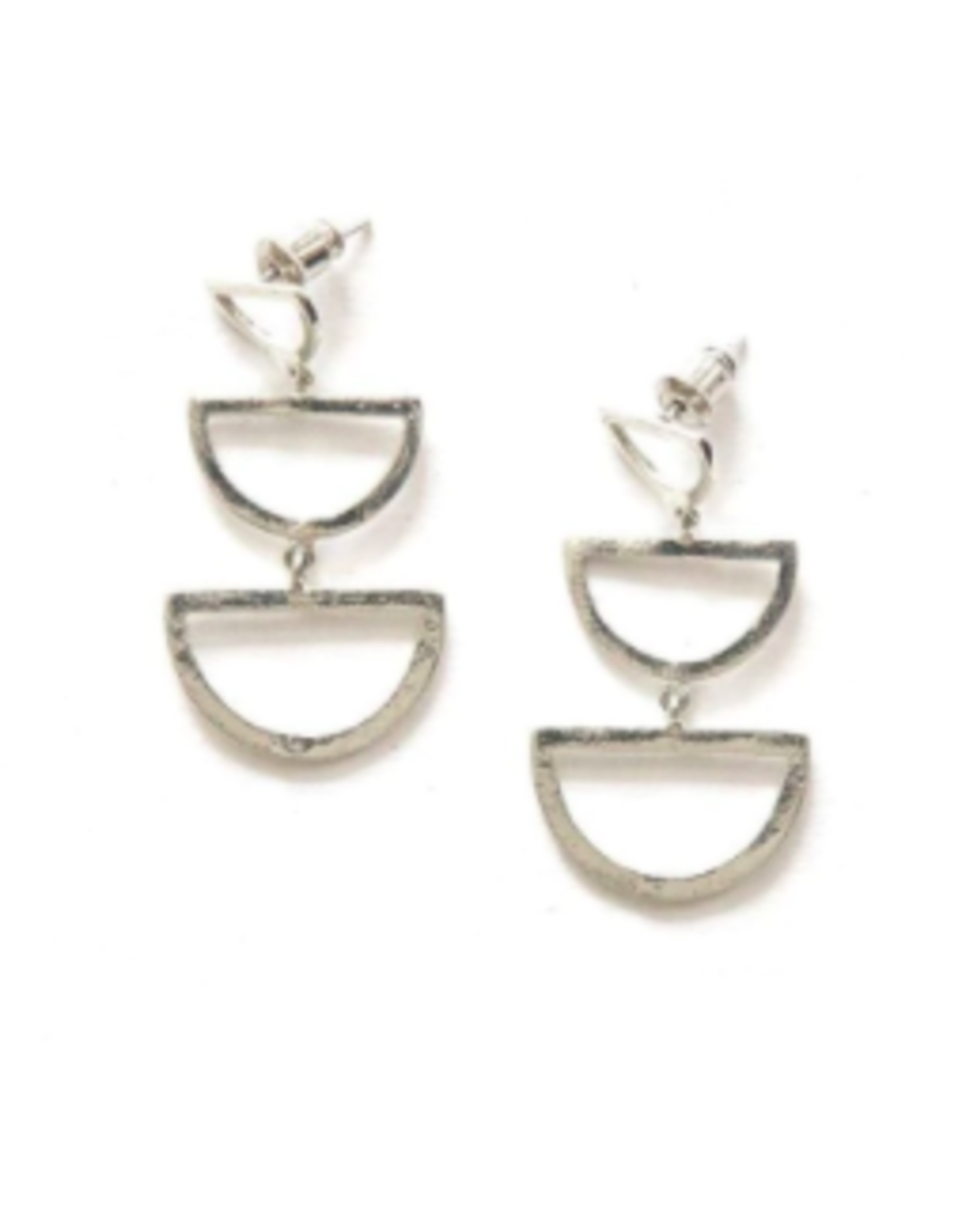 Reverberation Stud Earrings Silver