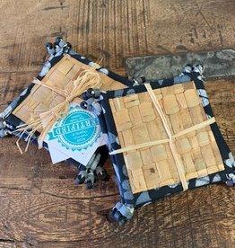 Water Hyacinth Coasters,  Black
