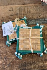 Water Hyacinth Coasters,  Evergreen