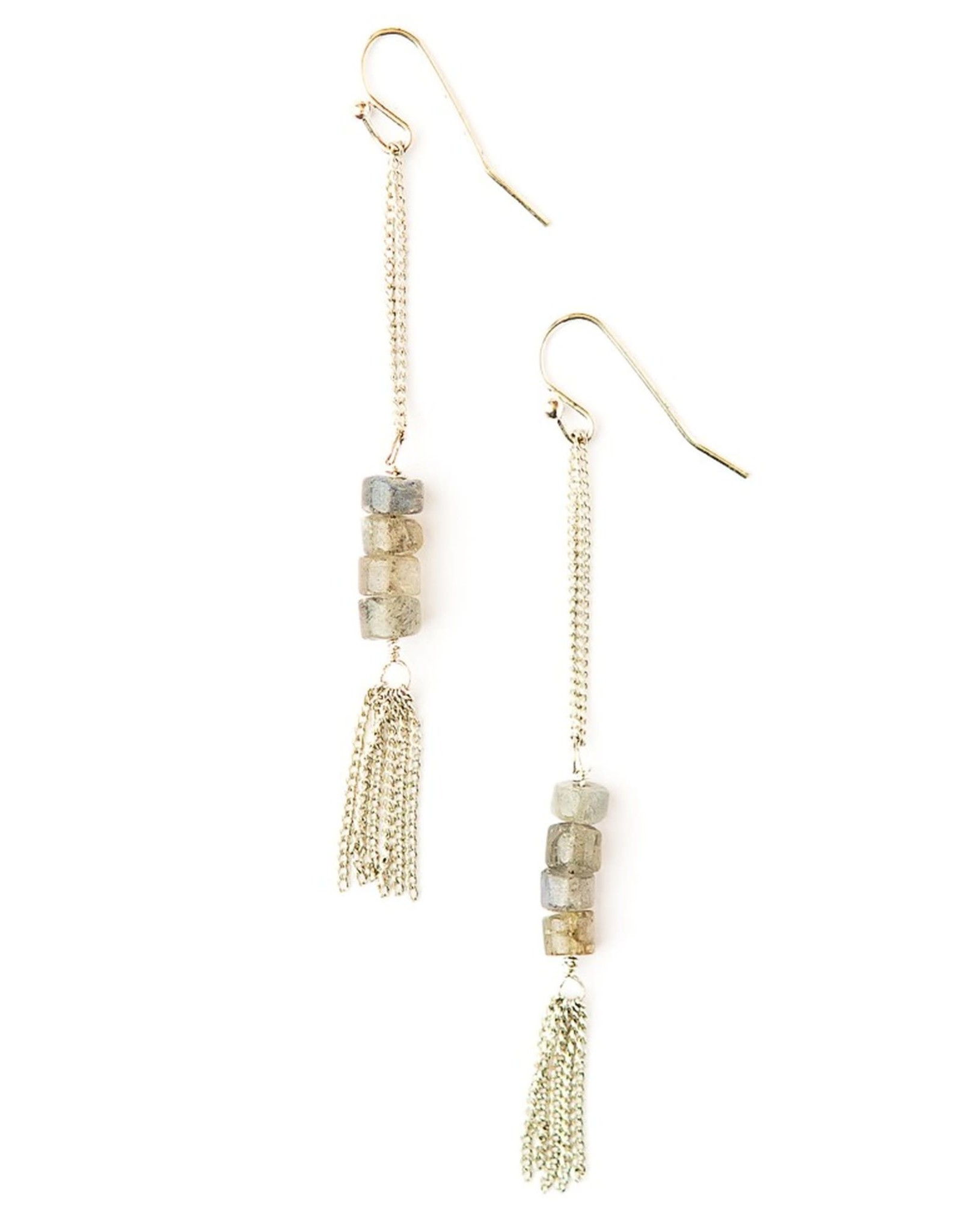 Stepping Stone Earrings Silver