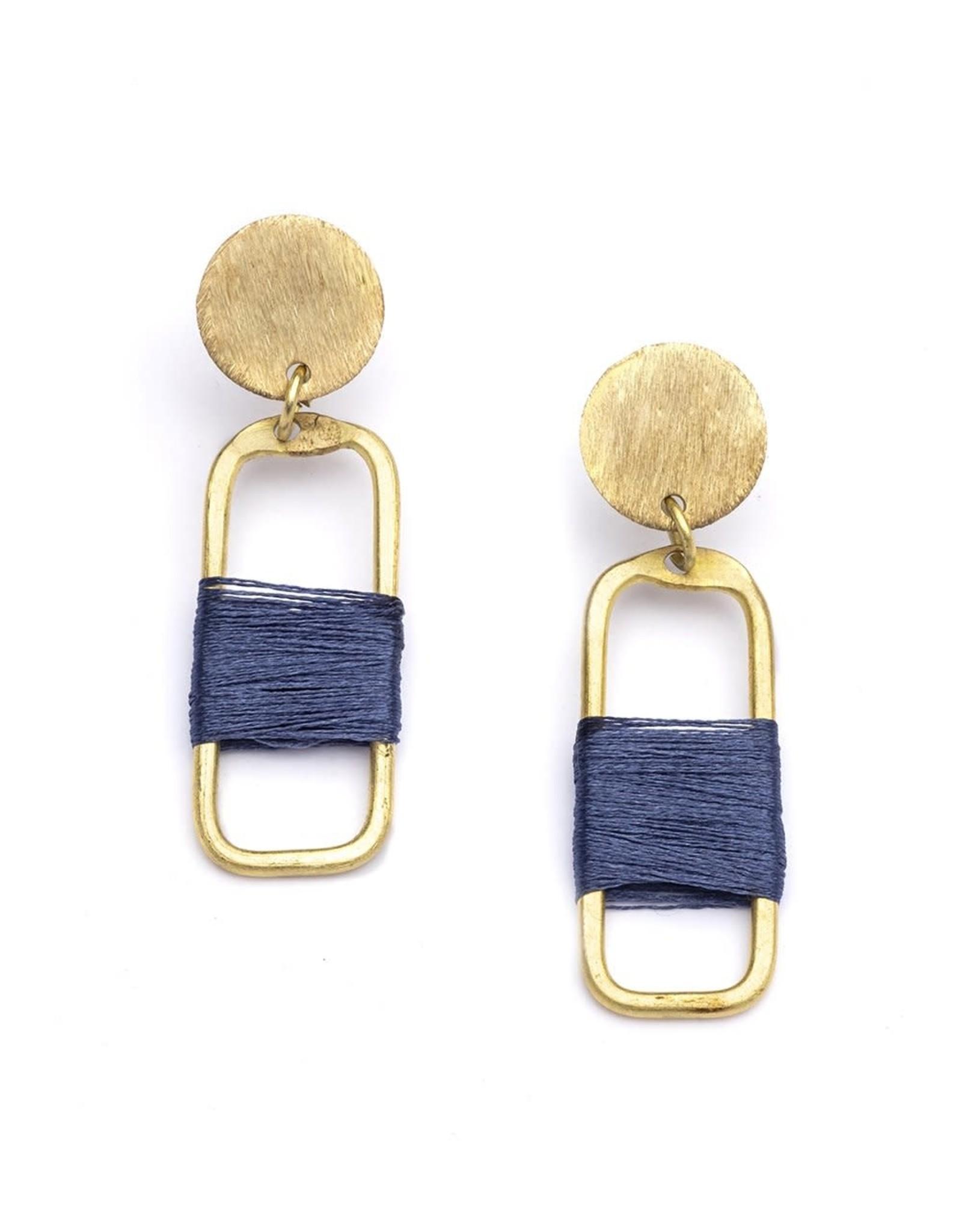 Kaia Earrings Navy Link, India