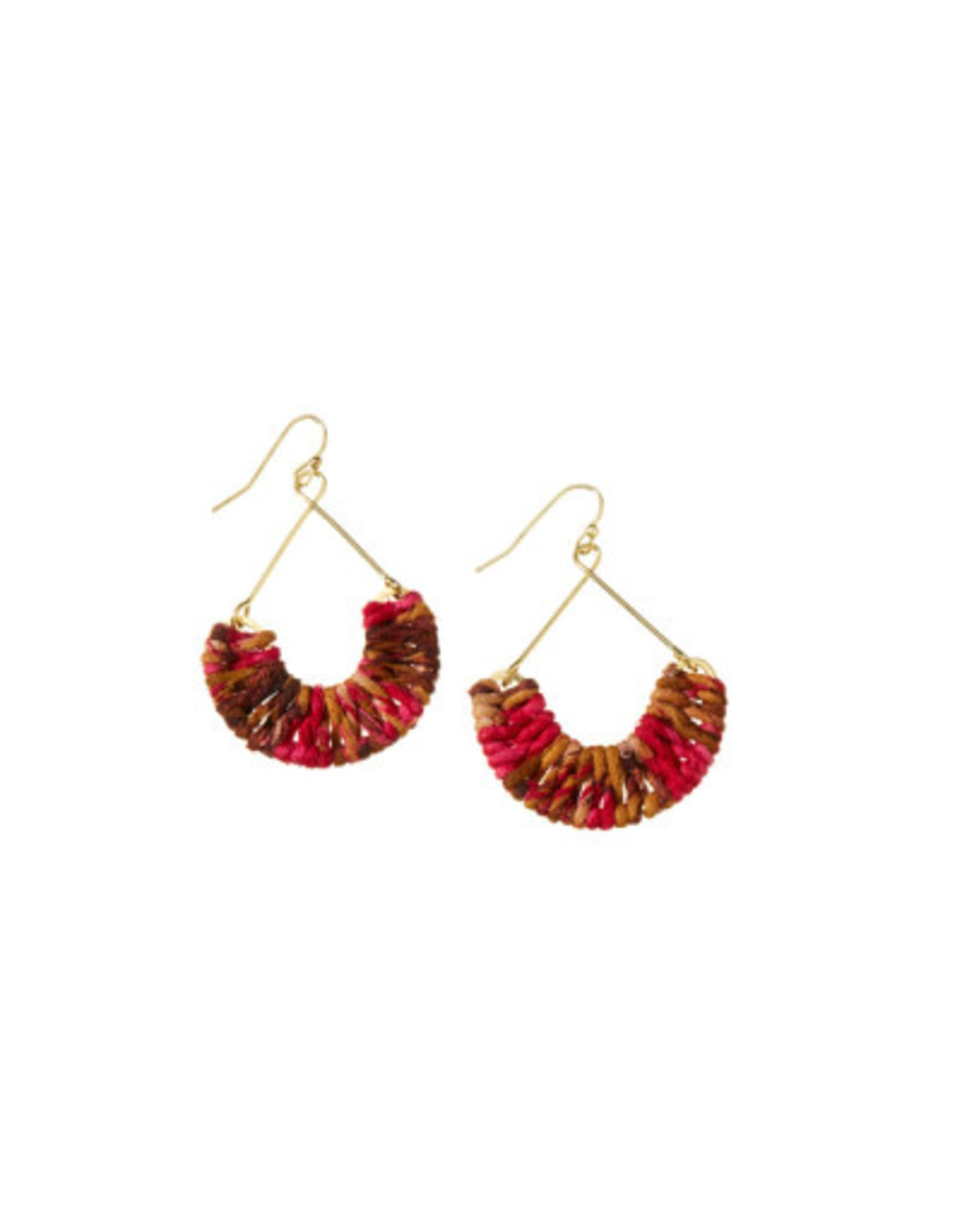 Mayra Twisted Earrings Warm, India