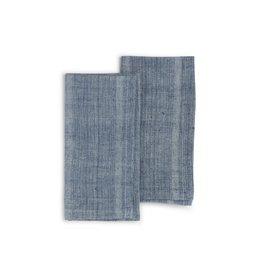 20 x 20 Organic Cotton, Natural Dye Set of 2 Indigo Sea, India