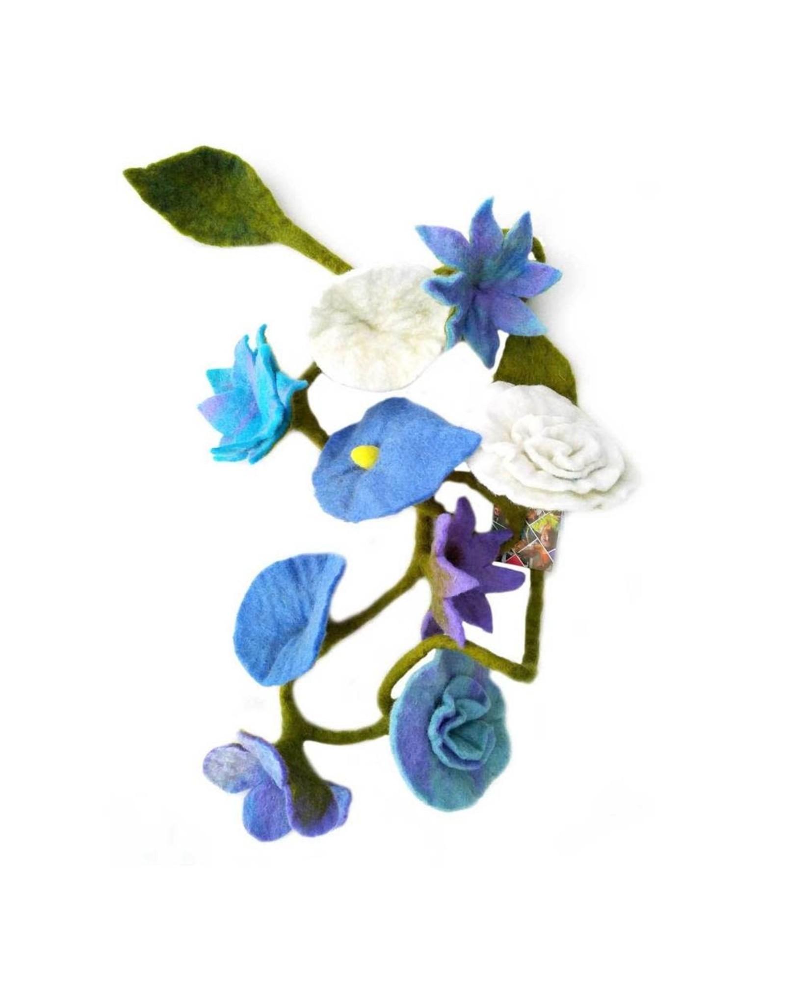 Nepal, Felt Flower Garland Flora Flower