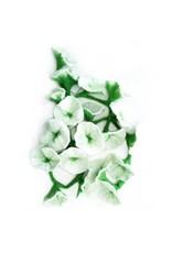 Nepal, Felt Flower Garland White Flower