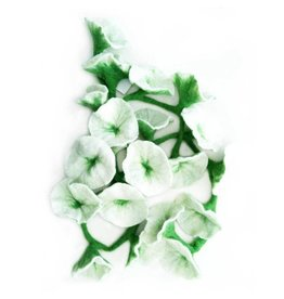 Nepal, Felt Flower Garland White Flower