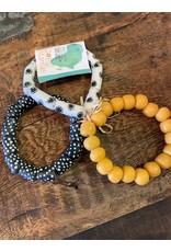 Modern Time Recycled Glass Bracelet, Mustard, Ghana
