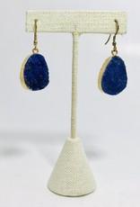 Rashima Druzy Drop Earrings DARK BLUE