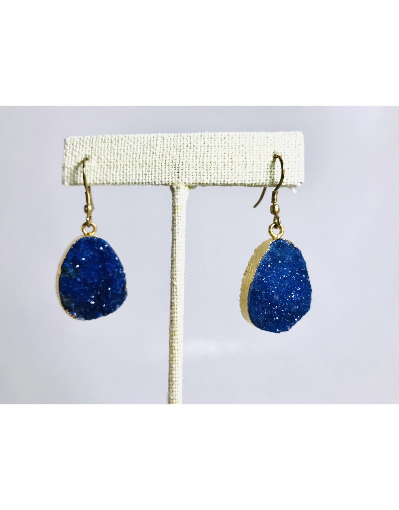 Rashima Druzy Drop Earrings DARK BLUE